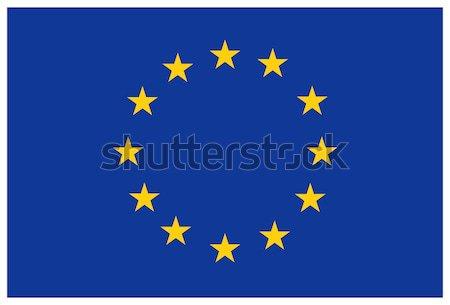 Eu vlag europese unie textuur teken Stockfoto © akaprinay