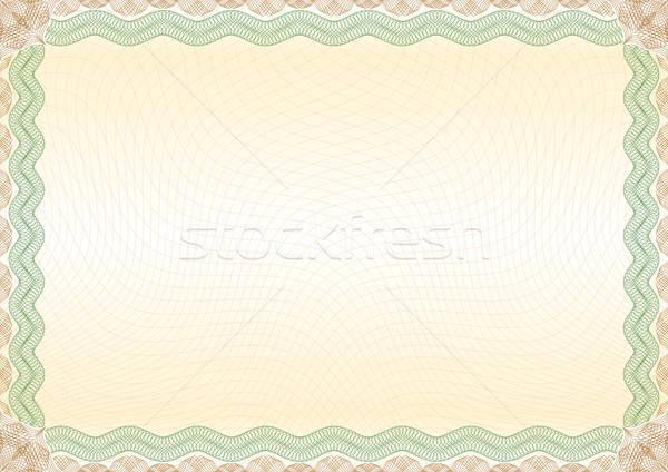 Сток-фото: сертификата · зеленый · коричневый · границе · пейзаж · красивой