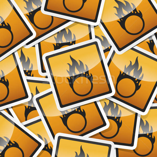 sticker-danger-symbols Stock photo © akaprinay