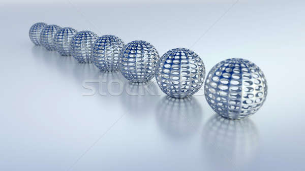 Stock photo: 3D concept illustration. Quality render with soft shadow.