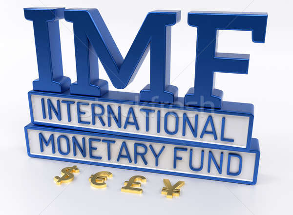 IMF - International Monetary Fund, World Bank - 3D Render Stock photo © akaprinay
