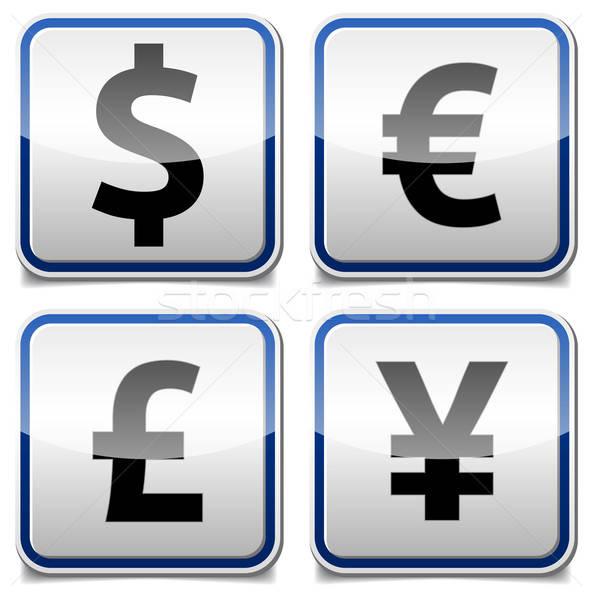 Geld icon boord geïsoleerd glanzend valuta Stockfoto © akaprinay