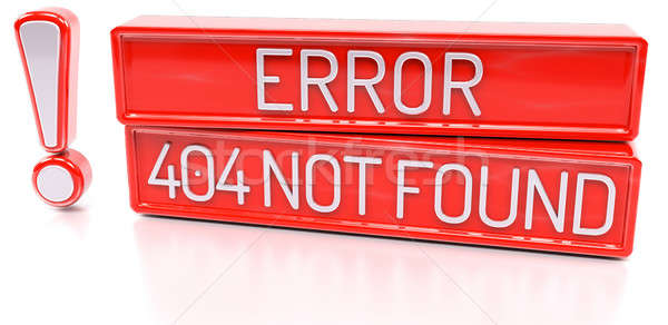 Error 404 Not Found - 3d banner, isolated on white background Stock photo © akaprinay