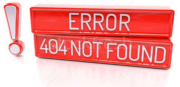 Hata 404 değil 3D afiş yalıtılmış Stok fotoğraf © akaprinay