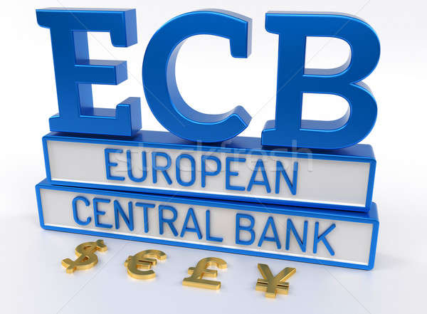 ECB European Central Bank - 3D Render Stock photo © akaprinay