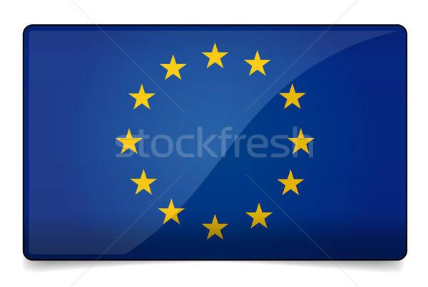 Europe flag Stock photo © akaprinay