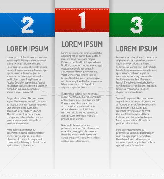 Infographics stappen sjabloon business onderwijs schaduw Stockfoto © akaprinay