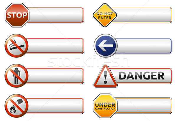 Danger, prohibition sign banner collection Stock photo © akaprinay