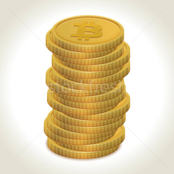 00235-bitcoin-gold-coins Stock photo © akaprinay