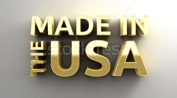 USA oro 3D qualità muro Foto d'archivio © akaprinay
