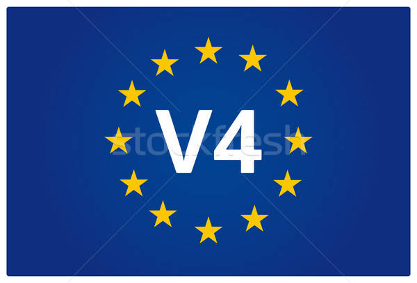 V4 EU flag Stock photo © akaprinay