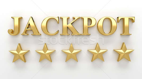 Jackpot with stars on white background - High quality 3D Render Stock photo © akaprinay