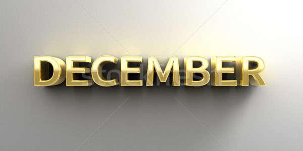 December maand goud 3D kwaliteit geven Stockfoto © akaprinay
