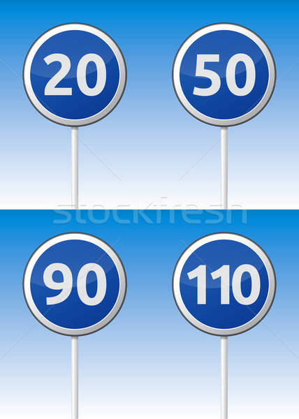 Speed traffic road board Stock photo © akaprinay
