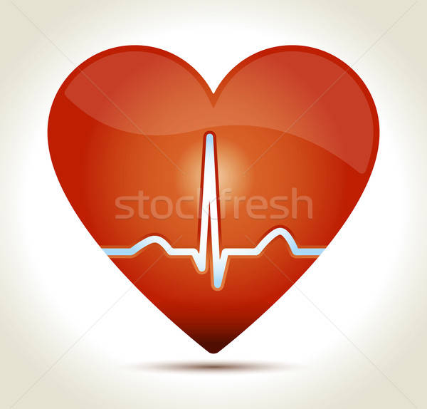heart-red-normal-rhytm Stock photo © akaprinay