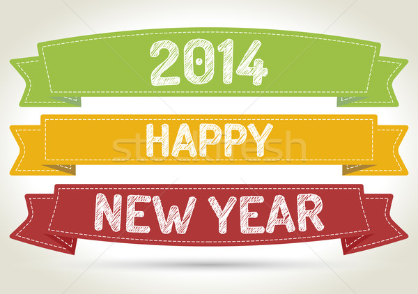 Happy new year 2014 Stock photo © akaprinay