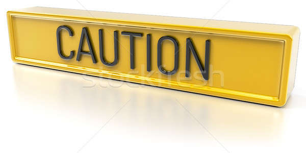 Caution - Isolated 3D Render Stock photo © akaprinay