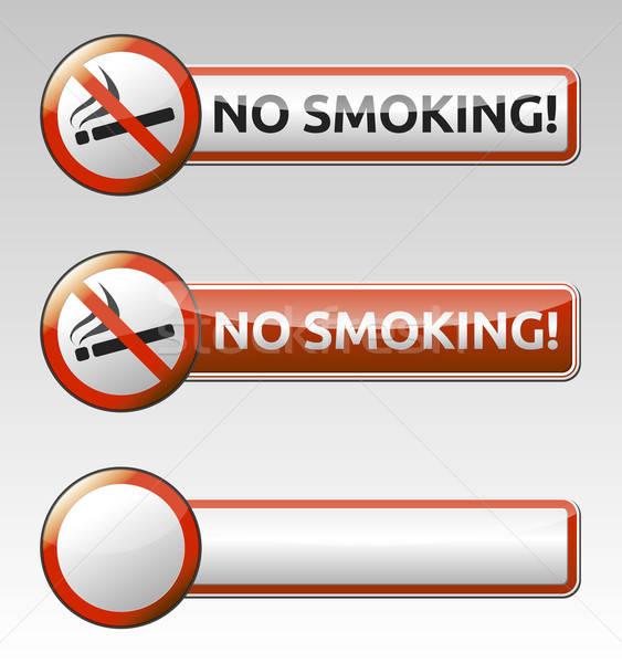 No smoking prohibition sign banner collection Stock photo © akaprinay