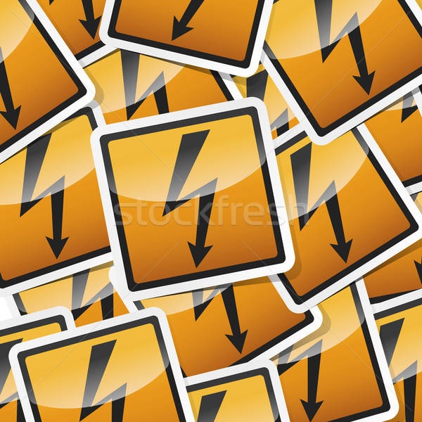 danger symbols icon Stock photo © akaprinay