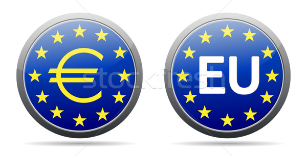 Euro sign Stock photo © akaprinay