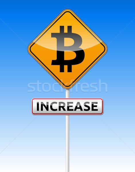 Bitcoin traffic board Stock photo © akaprinay