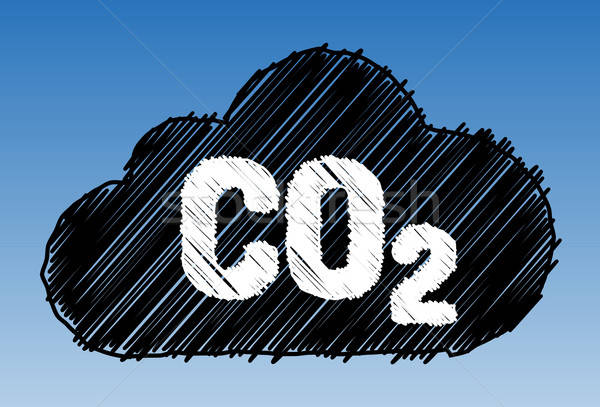 CO2 cloud pen style Stock photo © akaprinay