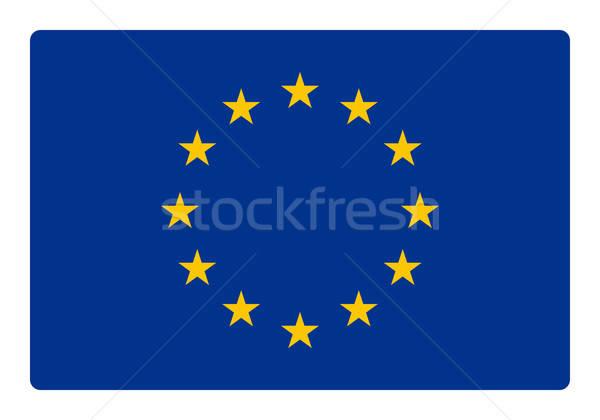 Stock fotó: Európa · zászló · sarok · világ · háttér · csillag
