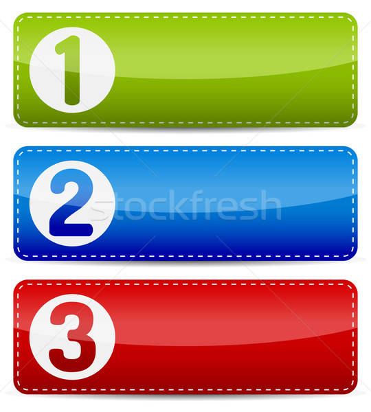 Numbered color step list banner Stock photo © akaprinay