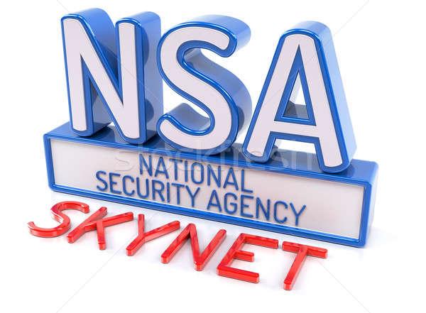 Sicurezza agenzia digitale macchina informazioni stoccaggio Foto d'archivio © akaprinay