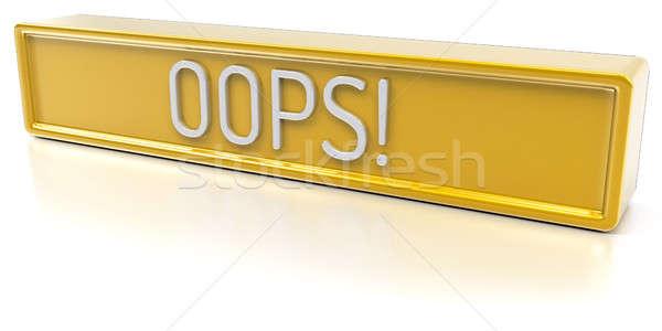 Ups aislado 3d amarillo banner texto Foto stock © akaprinay