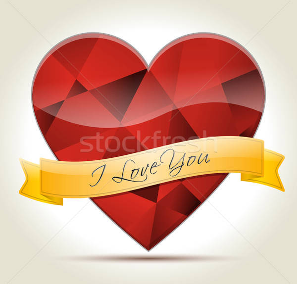 heart-diamond-I-Love-You Stock photo © akaprinay