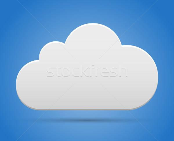Wolk hemel cloud-netwerk blauwe hemel business kaart Stockfoto © akaprinay