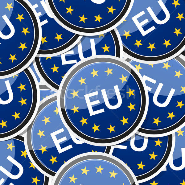 EU flag sticker symbol Stock photo © akaprinay