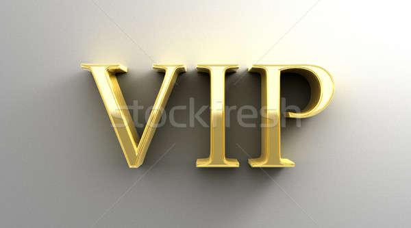 Vip oro 3D calidad hacer pared Foto stock © akaprinay