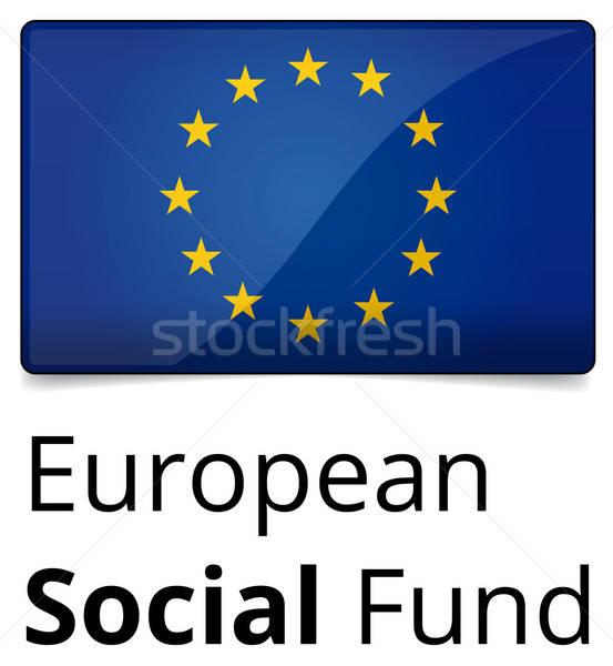 Сток-фото: европейский · социальной · фонд · дизайна · Евросоюз