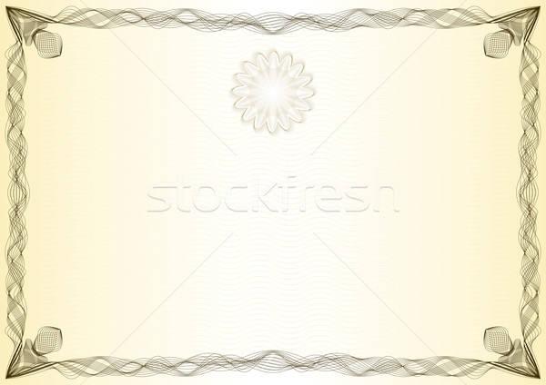 Certificate, vintage, graduate, diploma Stock photo © akaprinay