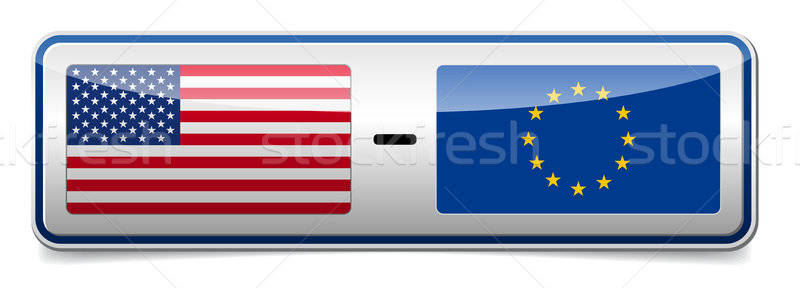США Евросоюз знак совета тень белый Сток-фото © akaprinay