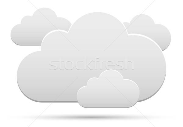 Wolken collectie wolk witte schaduw business Stockfoto © akaprinay