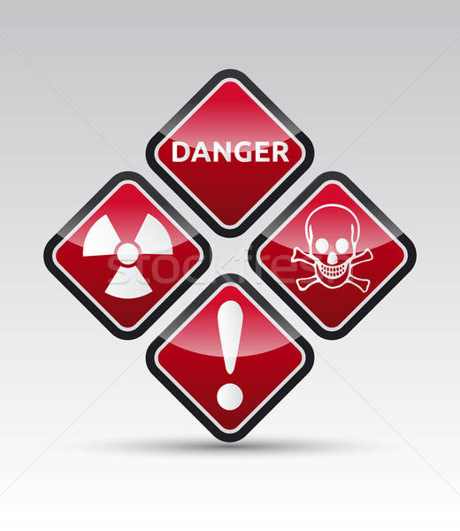 Danger warning symbol collection Stock photo © akaprinay