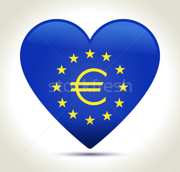 Euro money sign Stock photo © akaprinay
