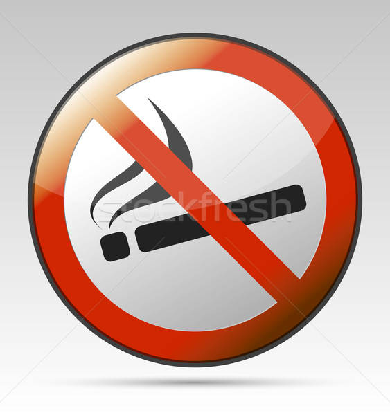 No smoking prohibition sign Stock photo © akaprinay