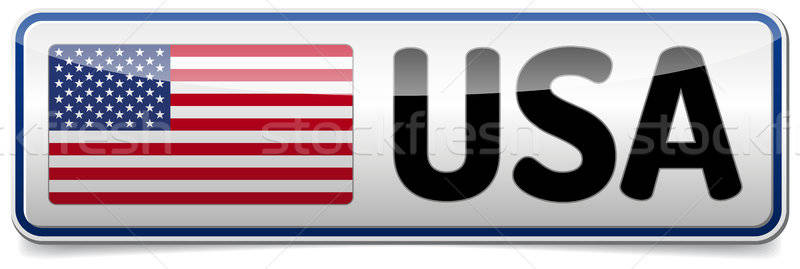 Stock photo: 00281-usa-button