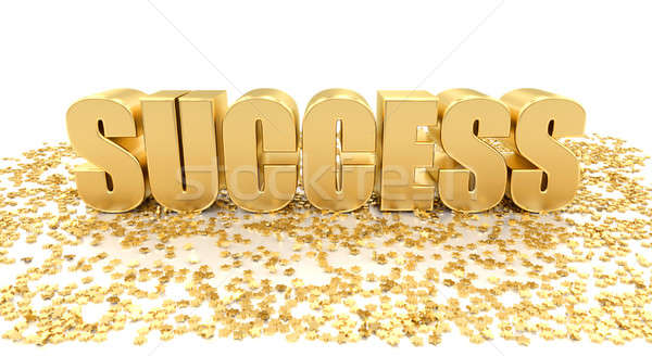 Success with stars on white background - High quality 3D Render Stock photo © akaprinay