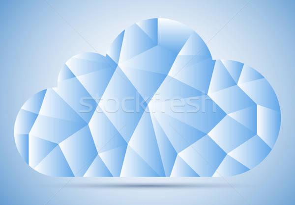 Mozaiek wolk fragment blauwe hemel helling schaduw Stockfoto © akaprinay
