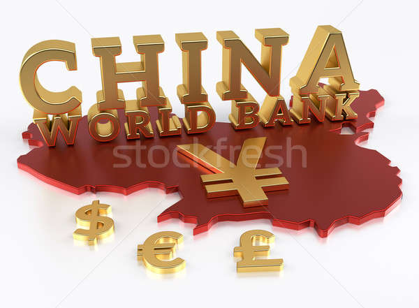 China mundo banco asiático infra-estrutura investimento Foto stock © akaprinay