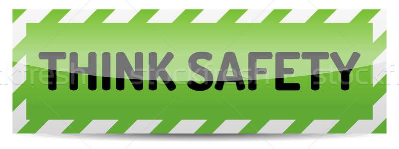 Denk veiligheid groene boord reflectie schaduw Stockfoto © akaprinay