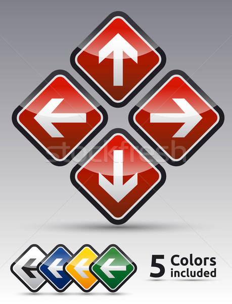 Icon symbool collectie kleur variatie Stockfoto © akaprinay
