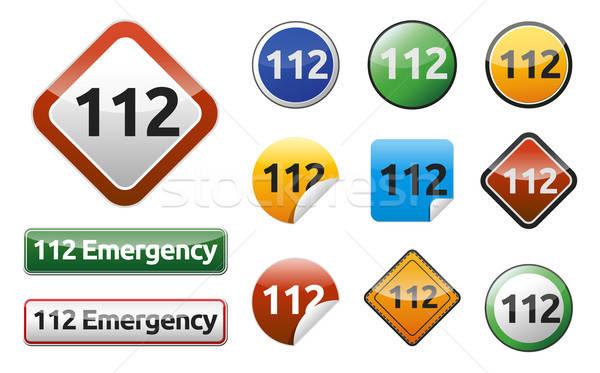 Emergenza chiamata isolato pulsante raccolta telefono Foto d'archivio © akaprinay