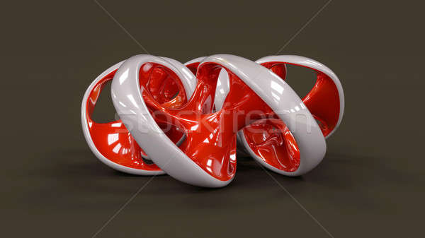 Endless twisted torus jewel - 3D concept illustration Stock photo © akaprinay
