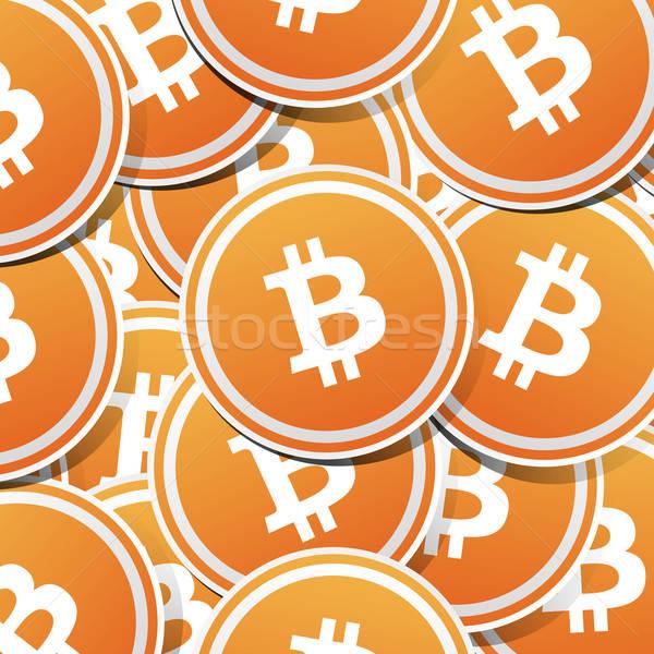 Bitcoin geld logo schaduw licht business Stockfoto © akaprinay